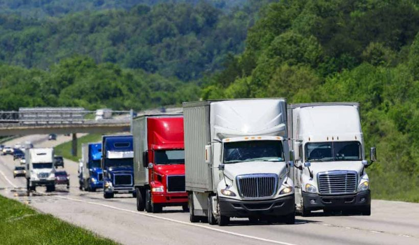 Different types of heavy transportation vehicles